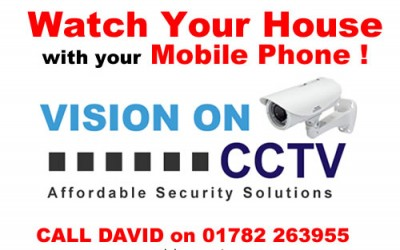 Watch Your House From Your Mobile Phone- Remote CCTV Systems in Stoke on Trent for £250