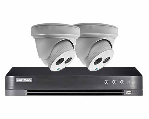 Aveesa 2 Camera Home CCTV System DS-7204HQHI-K1 & 2x TVI-DXF1080P-AR(W)