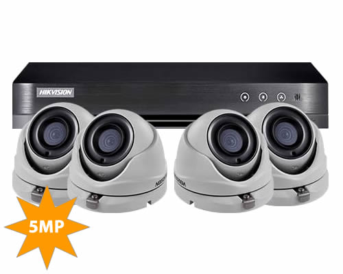 Hikvision 5MP CCTV Kit DS-7204HUHI-K1 & 4x DS-2CE56H0T-ITMF
