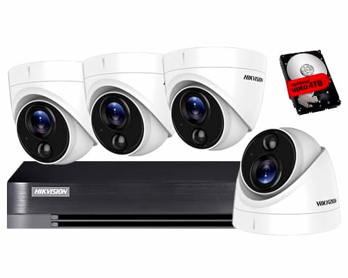 HIKVISION 4 CAMERA HOME CCTV SECURITY SYSTEM