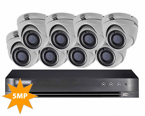 HIKVISION 8 CAMERA 5MP HOME CCTV SECURITY SYSTEM