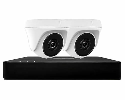 Hiwatch 2 Camera Home CCTV Security System | DVR-104G-F1 & 2x THC-T220