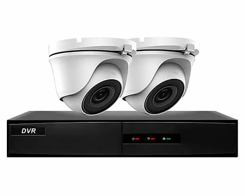 Hiwatch 2 Camera Home CCTV Security System | DVR-204G-F1 & 2x THC-T120-M