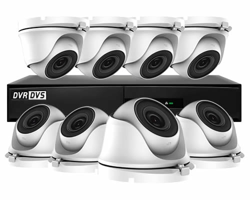 HIWATCH 8 CAMERA HOME CCTV SECURITY SYSTEM