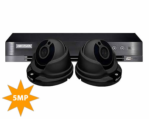 ProLux 2 Camera 5MP Home CCTV Security System | DS-7204HUHI-K1 & 2x PX-610-F5G